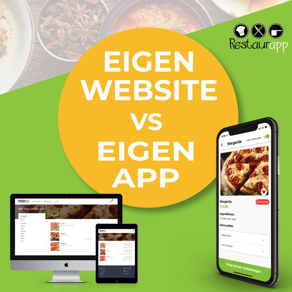 Restaurant website vs horeca app, de voor- en nadelen op een rij!