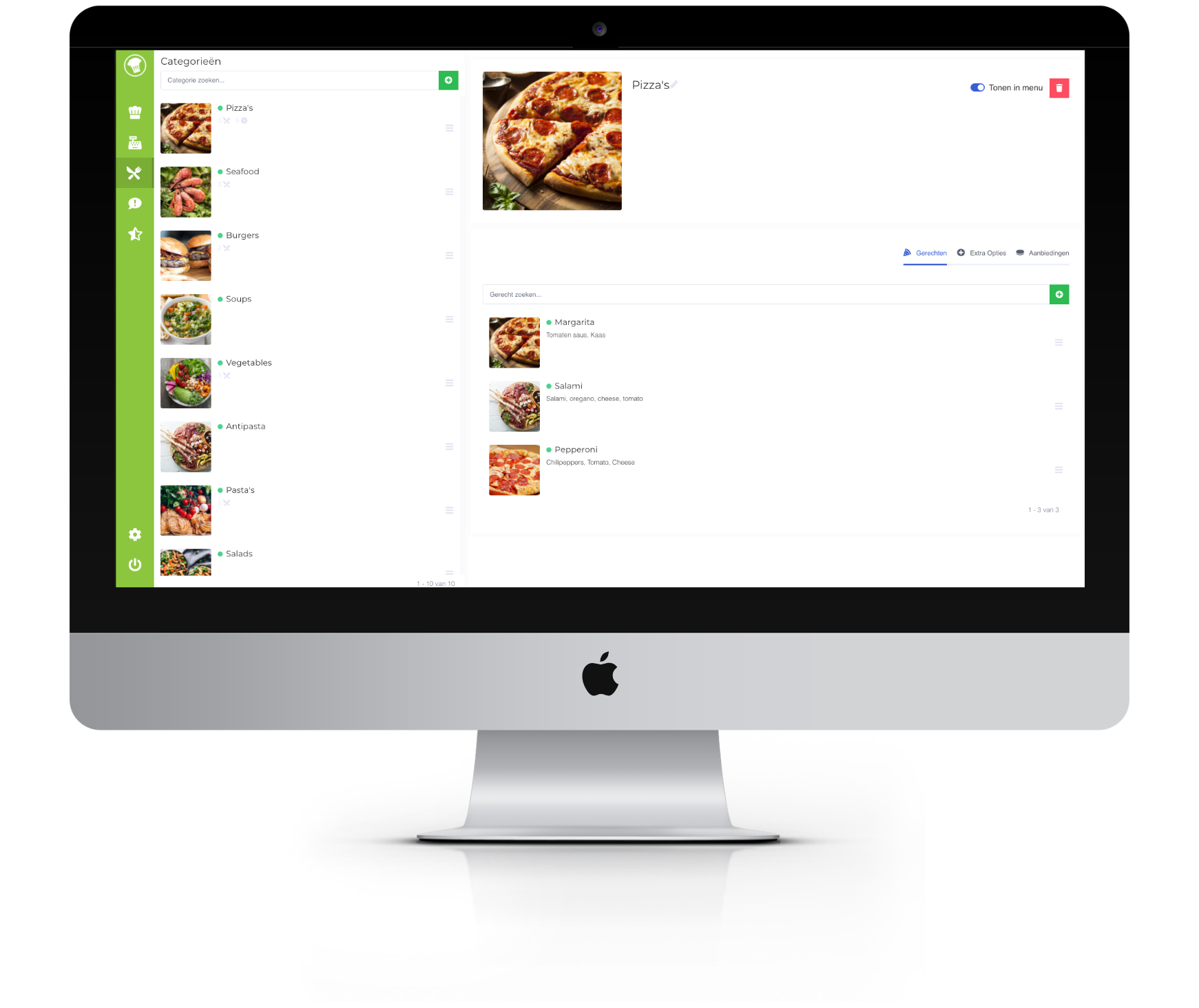 Screenshot van het categorie bewerken scherm in het beheerpaneel .