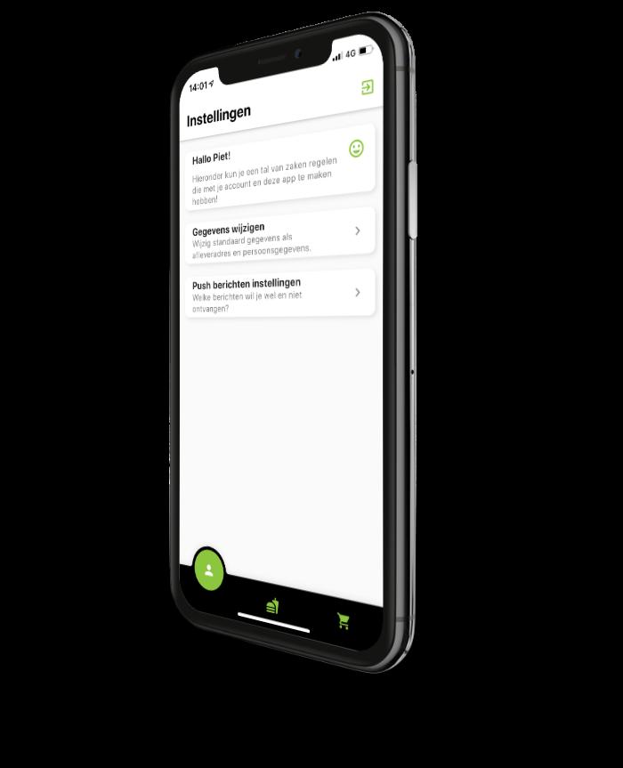 Bestel app horeca screenshot