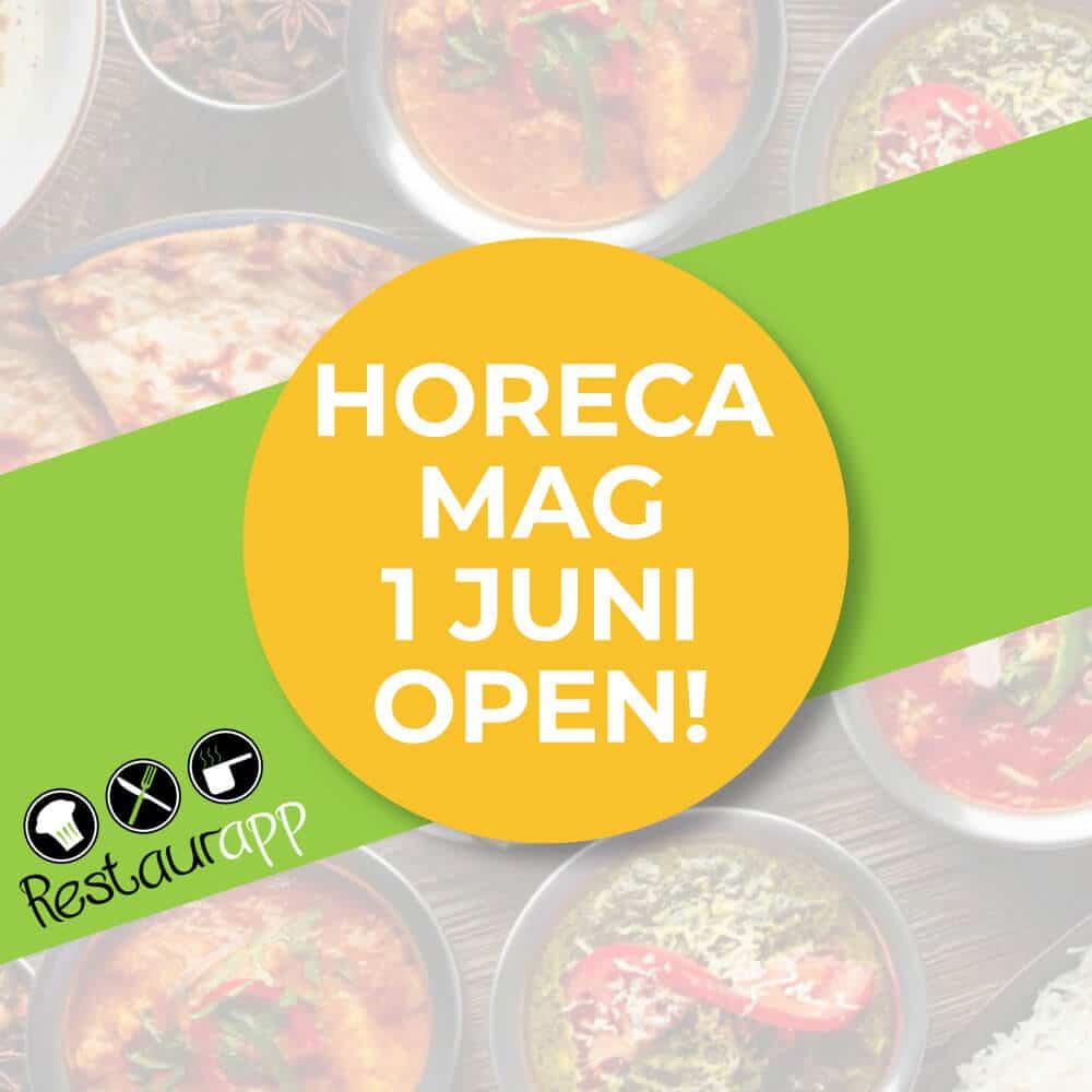 Horeca mag 1 juni weer open!