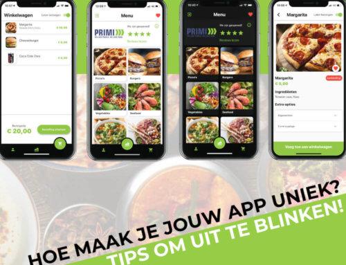 Hoe maak je jouw restaurant app uniek?