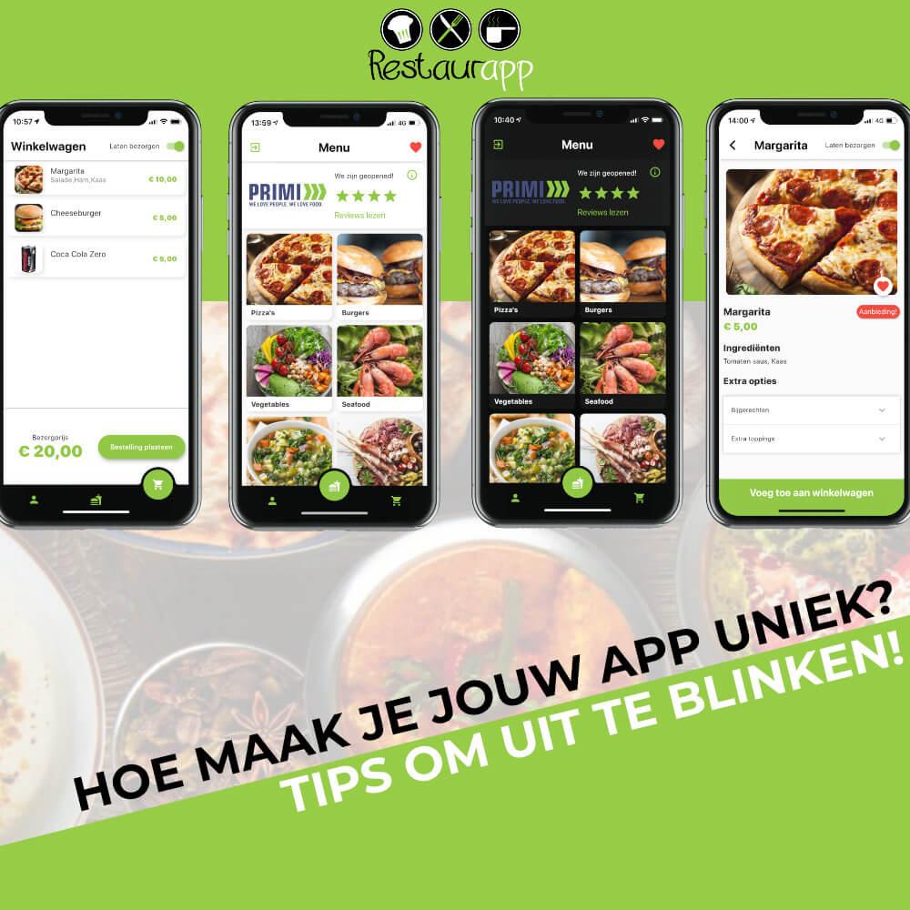Hoe maak je jouw restaurant app uniek? Tips om uit te blinken!