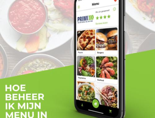 Hoe beheer ik het menu van mijn restaurant website of app?