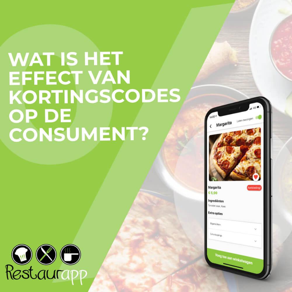 Banner wat is het effect van kortingscodes op de consument?