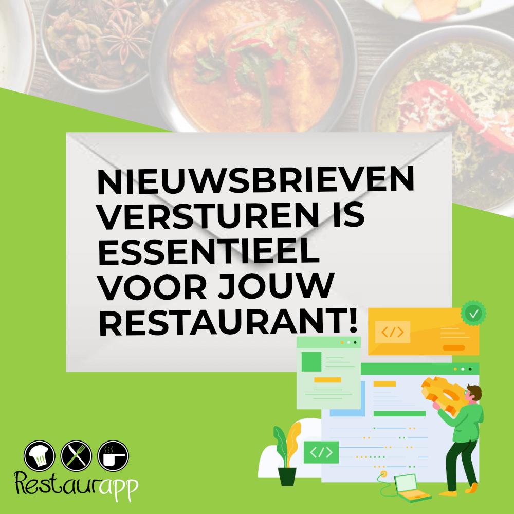 Banner Nieuwsbrieven versturen is essentieel voor jouw restaurant!