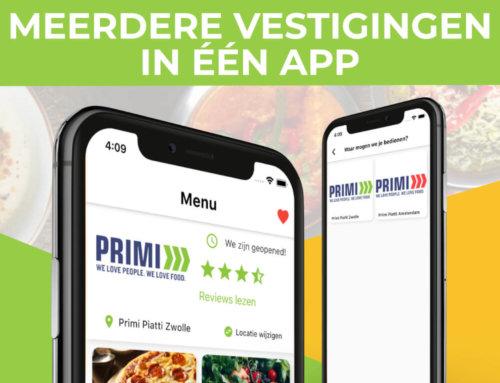 Meerdere vestigingen in één restaurant app